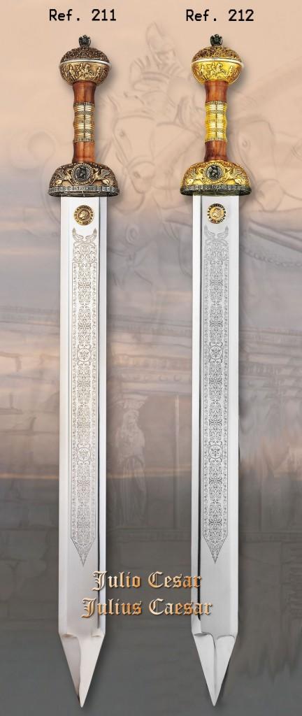 Espadas gladius romanas que portaban las legiones