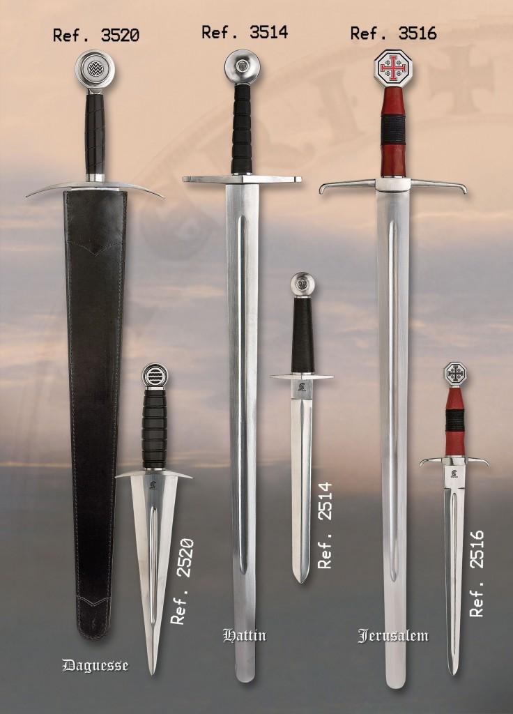 Espadas de combate battle Ready con espiga completa, full tang