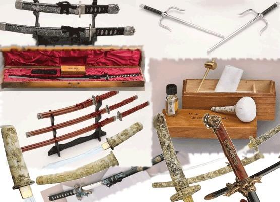 Armas japonesas samurais: katanas tachi, wakizashi, nodachi, naginata ...
