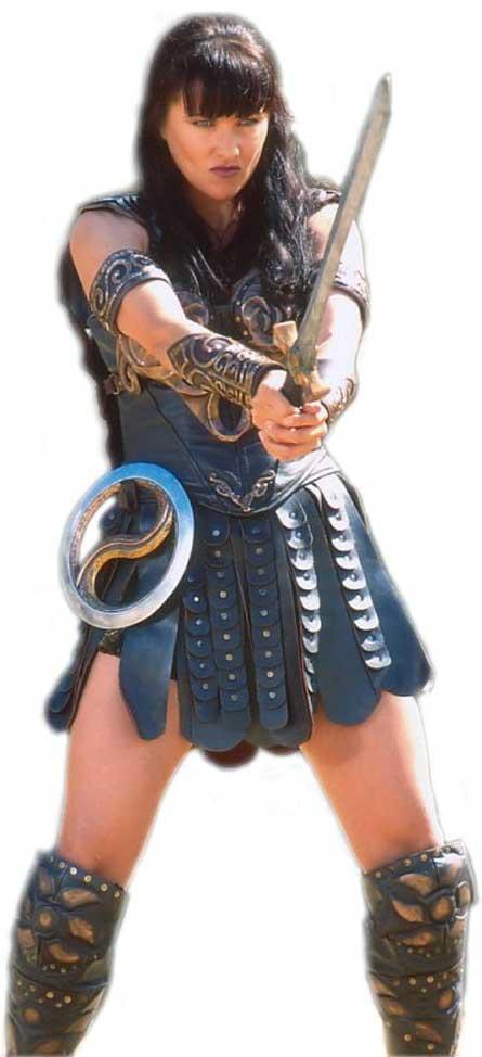 Xena con su espada