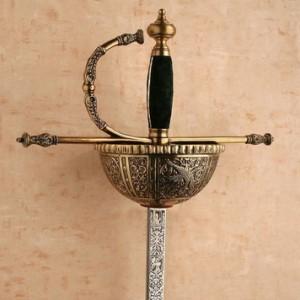 Espada Carlos V de cazoleta en bronce 300x300 - Espada Carlos V de cazoleta en bronce