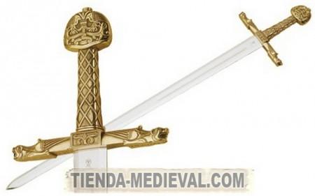1 450x281 - Espada Carlomagno oro