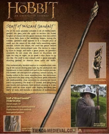 BASTÓN ORIGINAL DE GANDALF DEL HOBBIT 367x450 - Espada Gandalf Glamdring