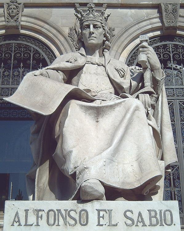 Escultura de Alfonso X El Sabio
