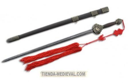 ESPADA JIAN ACERO DAMASCO PARA TAI CHI 450x290 - Famosas armas y espadas chinas