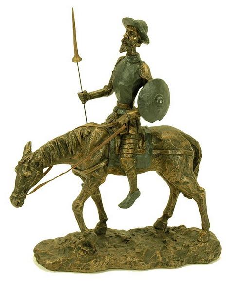 Figura Don Quijote a caballo - La Espada de Don Quijote de La Mancha