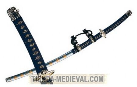 Tachi japonés azul 450x287 - Tachi Meiji Samurai