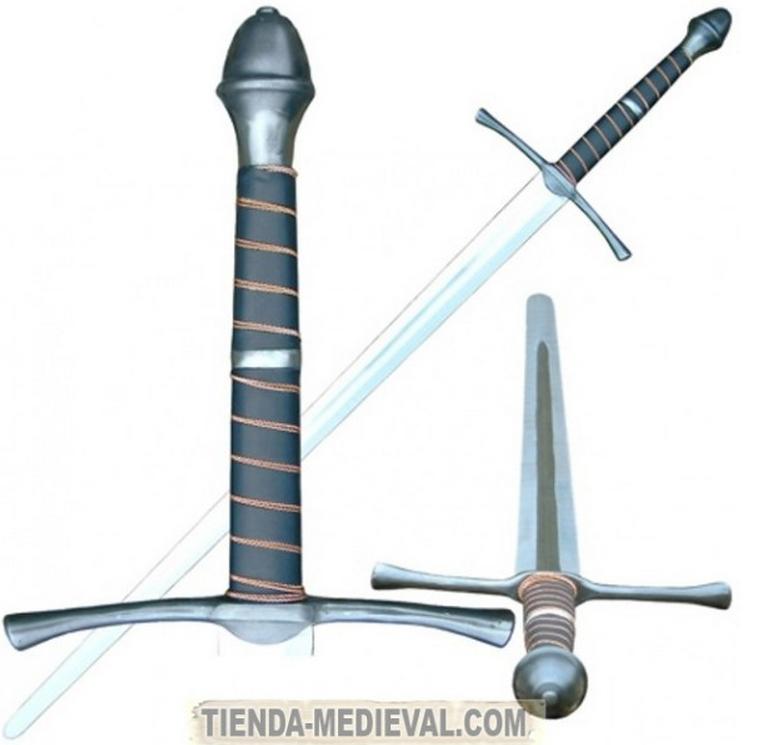 ESPADA MANO Y MEDIA - El pomo de las espadas funcionales