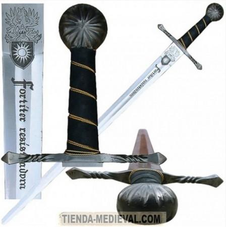 ESPADA GÓTICA UNA MANO 448x450 - El pomo de las espadas funcionales