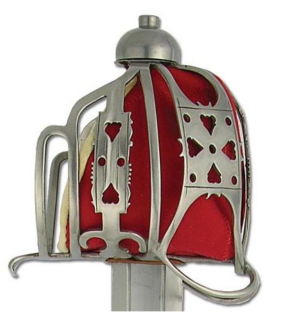 Espada inglesa de cesta, s. XVII-XVII EMPUÑADURA