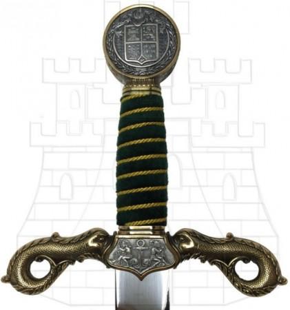 Espada Cristóbal Colón en oro
