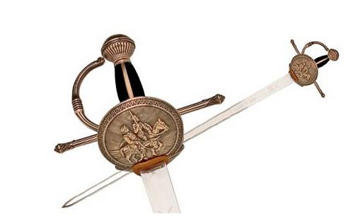 Espada de Don Quijote decorada
