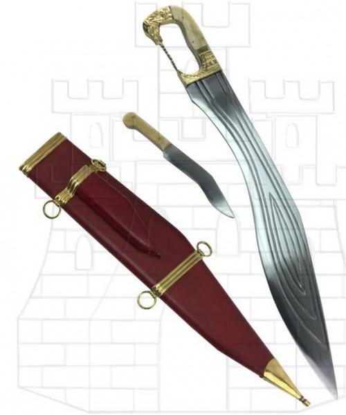Falcata Kopis mango de caballo - Espada Griega Xiphos Hoplita