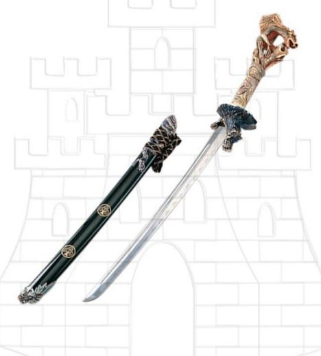 Wakizashi puño 2 dragones