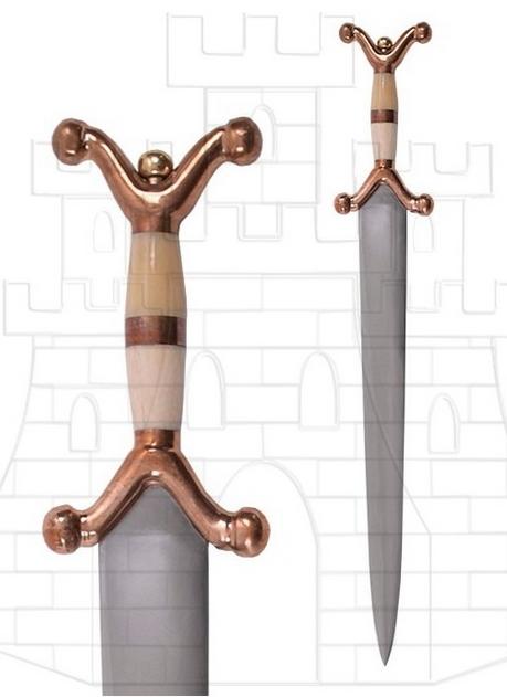 Espada Celta Corta 63 cms. - Las antenas de las espadas celtas