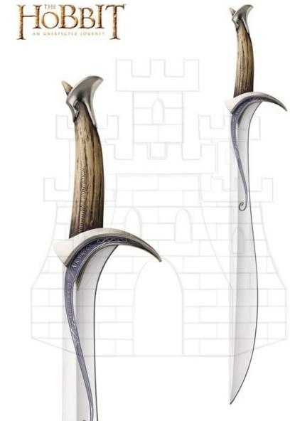 Espada Oficial Orcrist El Hobbit - Espada Altos Elfos de El Hobbit