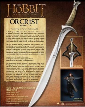 Espada Oficial Orcrist del Hobbit 362x450 - Espada Oficial Orcrist del Hobbit