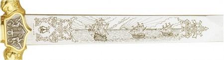 Espada de Cristobal Colón Oro 450x123 - Espada de Cristobal Colón Oro