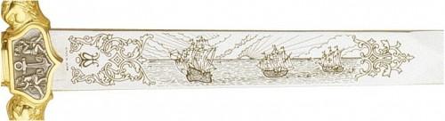 Espada de Cristobal Colón Oro - Espectaculares Espadas con motivos América