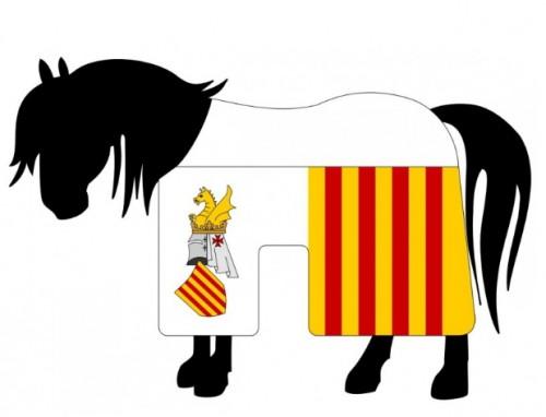 Gualdrapa caballo Jaime I de Aragón - Espada y Espadón del Rey Jaime I de Aragón