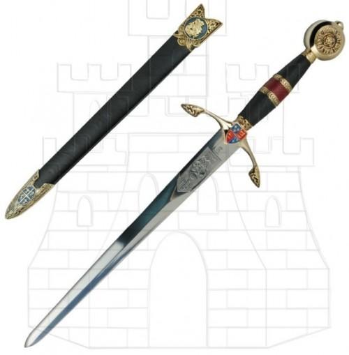 Daga Príncipe Negro decorada - Espada de Eduardo de Woodstock, El Príncipe Negro