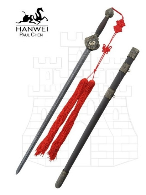 Espada Jian acero de Damasco - Espada recta Jian