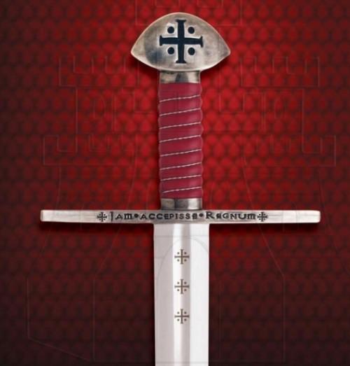 Espada Templaria funcional con vaina - Espadas puño costillas