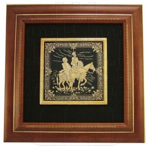 Cuadro Quijote Damasquinado - La Espada de Don Quijote de La Mancha