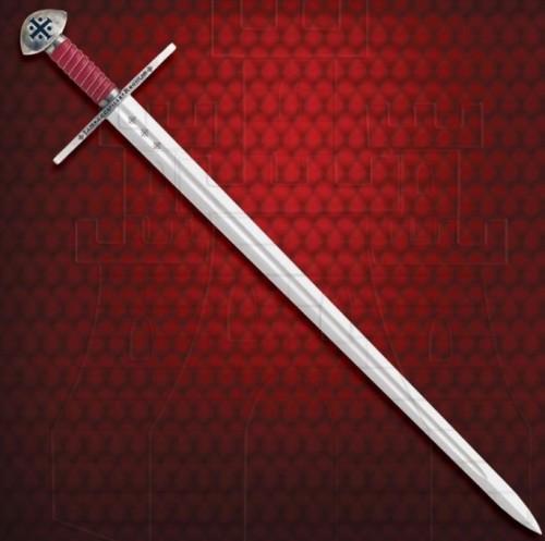 Espada Templaria funcional con vaina - Espadas Templarias de Combate