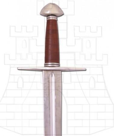 Espada normanda larga funcional1 378x450 - Los Pomos de las Espadas Vikingas