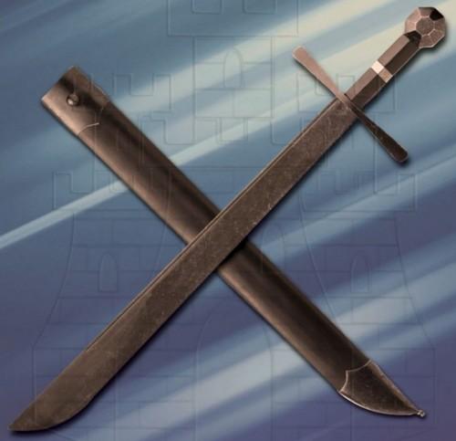 Espada Hattin Falchion de combate afilada - Espadas Falchion funcionales