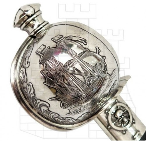 empuñadura Sable del pirata Jeireddín Barbarroja - empunadura-sable-del-pirata-jeireddin-barbarroja