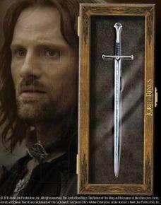 Abrecartas Anduril Señor de los Anillos - Espada Narsil de Aragorn