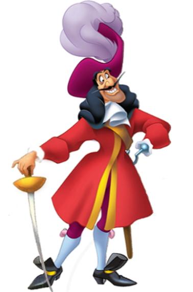 Capitan Hook Garfio de Peter Pan - Espada del Capitán Hook (Garfio) de Peter Pan