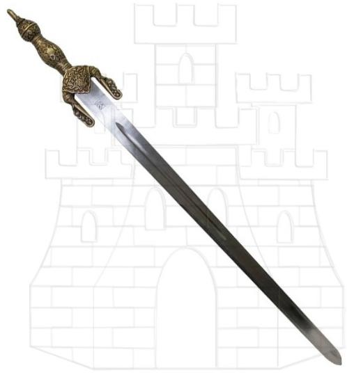 Espada Jineta Boabdil latonada - Espada Jineta Rey Boabdil de Granada