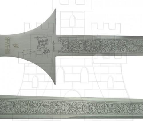 Espada de batalla de Jaime I - Espada y Espadón del Rey Jaime I de Aragón