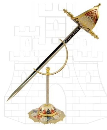 Mini daga Renacimiento con soporte - Colección de mini-espadas con sus expositores
