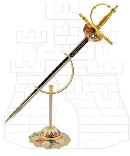 Mini espada cazoleta con soporte - Colección de mini-espadas con sus expositores
