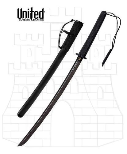 Wakizashi táctica en damasco negro - Sets Decorativos de Katana, Wakizashi y Tanto