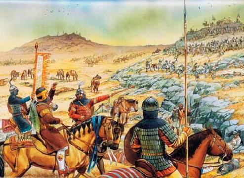 Batalla de Hattin - Espada y cuchillo de combate Hattin