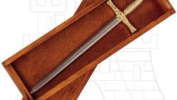 Abrecartas Excalibur con caja madera 250x141 - Abrecartas Excalibur con caja madera