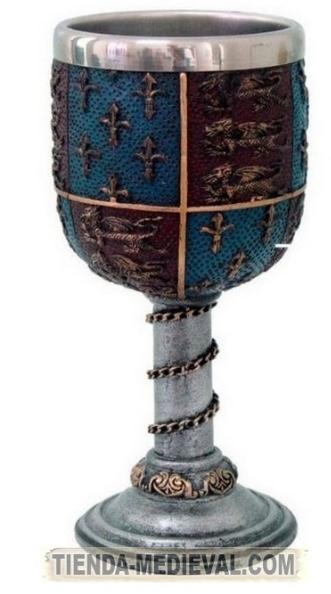 Cáliz medieval Ricardo Corazón de León - Dagas y Espadas Ricardo I Corazón de León