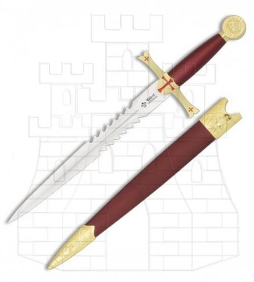 Daga Templaria con vaina - Daga de los Templarios