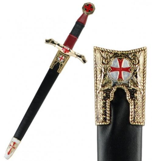 Daga templaria cruz paté con vaina - Daga de los Templarios