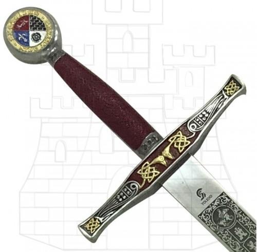 Espada Excalibur decorada - Rey Arturo: La leyenda de Excalibur