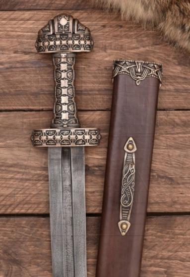 Espada Vikinga Eigg - Espada Vikinga isla Eigg en Acero de Damasco