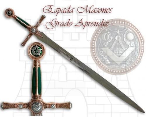 Espada Masones Grado de Aprendiz - Espada Masones grados Maestro y Aprendiz