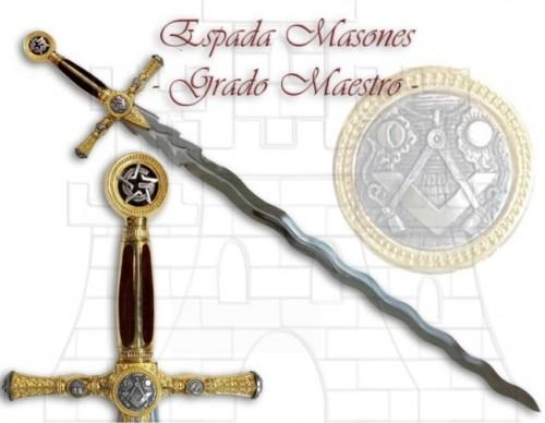 Espada Masones Grado de Maestro - Espada Logia Masónica Flamígera
