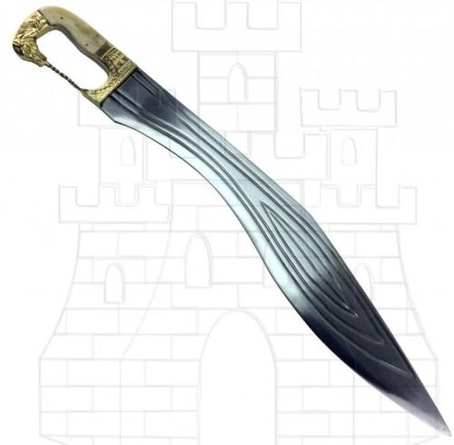 Falcata Kopis con mango caballo - Espada Kopis Griega