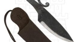 Cuchillo medieval con vaina en gamuza 250x141 - Cuchillo medieval con vaina en gamuza